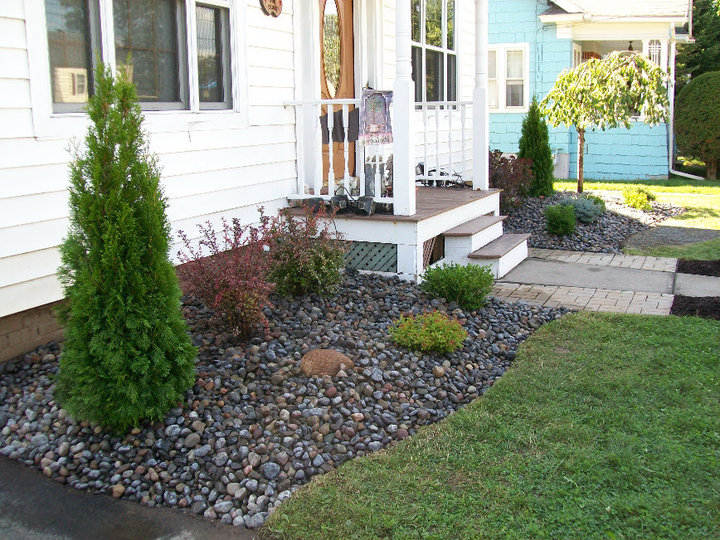 landscaping using 3 river bed stone stone age landscaping