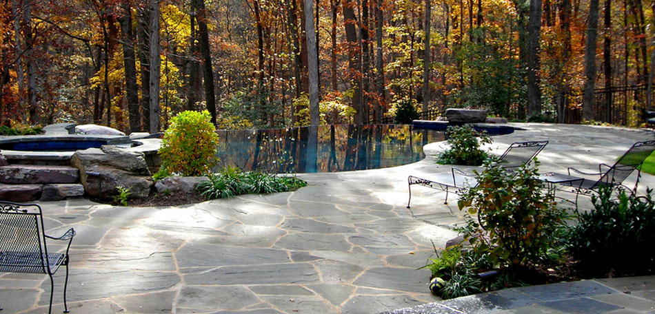 Natural Pool Patio Stone Age Landscaping
