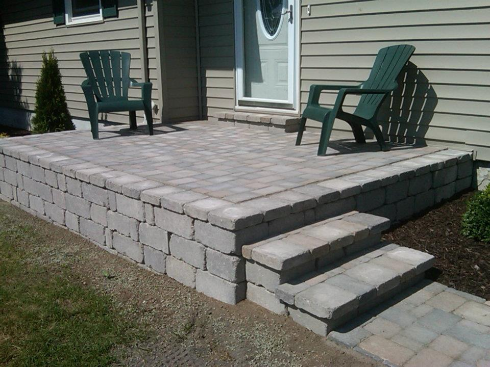 How To Build A Raised Paver Patio How To Build A Raised  : Raised Patio with custom built stairs from chipoosh.com size 960 x 720 jpeg 115kB